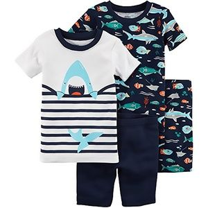 Carter's Baby Boys' 4-Piece Shark Pj's, 18 Months